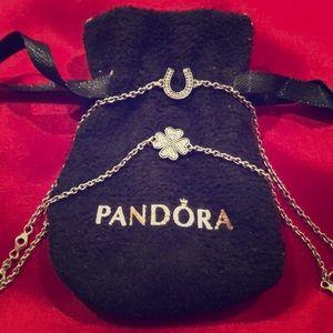Set of two Pandora lucky charm bracelets